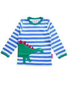 Toby Tiger Baby Dinosaur Applique T-Shirt