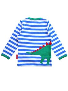 Toby Tiger Kids Dinosaur Applique T-Shirt