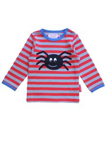 Toby Tiger Baby Boys Spider Applique T-Shirt