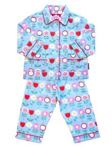 Toby Tiger Girls Flower Pyjamas