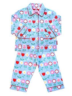 Girls Flower Pyjamas