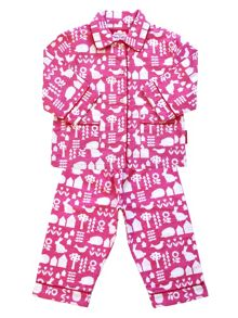 Toby Tiger Girls Garden Pyjamas
