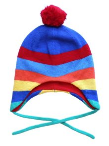 Kids Baby Bold Multi Stripe Knitted Hat