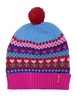 Toby Tiger Girls Tulip Knitted Hat