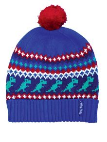 Toby Tiger Boys Dino Knitted Hat
