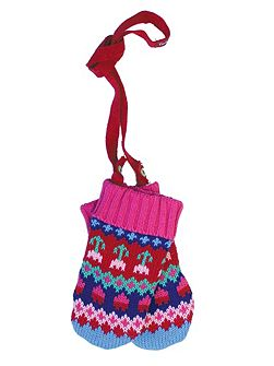 Toby Tiger Girls Tulip Knitted Mittens