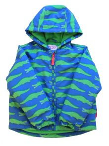 Toby Tiger Boys Crocodile Padded Jaket