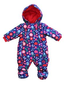 Toby Tiger Baby Girls Hedgehog Snowsuit