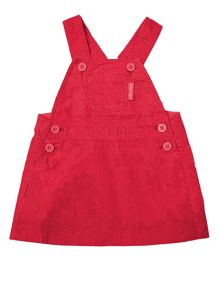 Toby Tiger Baby Girls Red Dungaree Dress