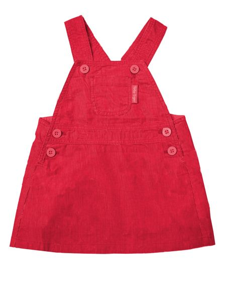 Toby Tiger Girls Red Dungaree Dress
