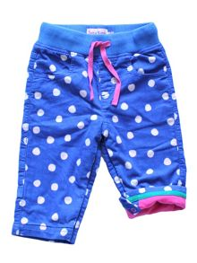 Baby Girls Blue Dot Trousers