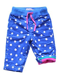 Toby Tiger Baby Girls Blue Dot Trousers