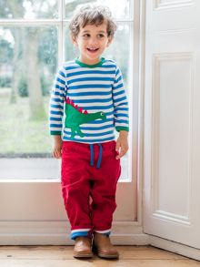 Toby Tiger Baby Girls Red Trousers