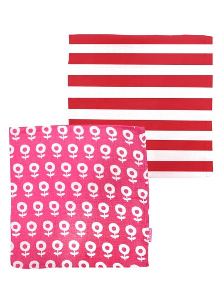 Toby Tiger Baby Dot Flower Muslin 2 Pack