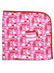 Toby Tiger Baby Girls Garden Blanket