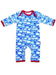 Toby Tiger Baby Boys Farm Sleepsuit