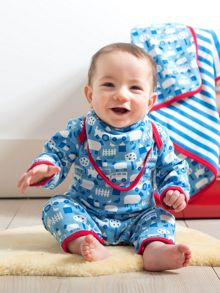 Baby Boys Farm Sleepsuit