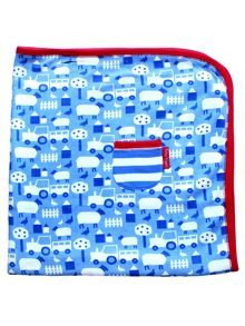 Toby Tiger Baby Boys Farm Blanket
