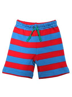 Baby Boys Blue And Red Stripe Shorts