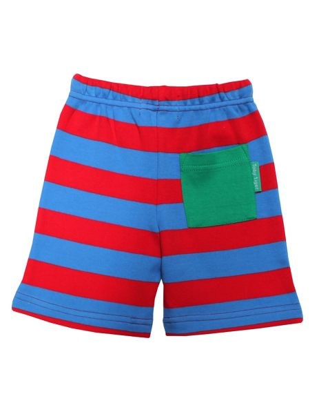 Toby Tiger Baby Boys Blue And Red Stripe Shorts