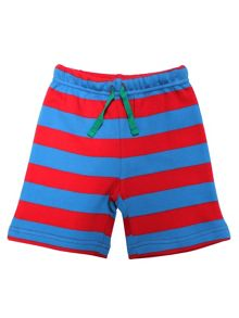 Toby Tiger Boys Blue And Red Stripe Shorts