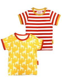 Toby Tiger Kids Giraffe T-Shirt 2 Pack