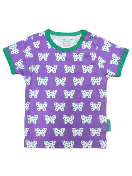 Toby Tiger Baby Girls Butterfly T-Shirt 2 Pack