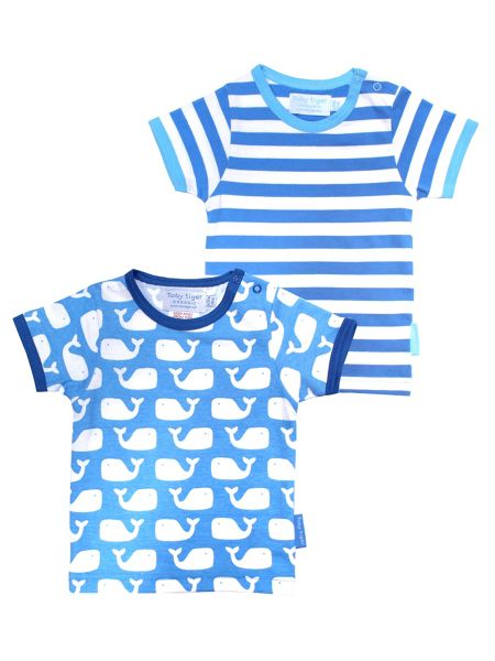 Toby Tiger Babies Whale T-Shirt 2 Pack
