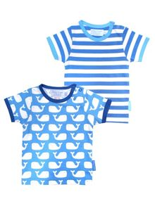 Toby Tiger Kids Whale T-Shirt 2 Pack