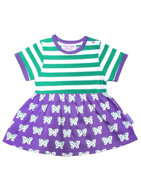 Toby Tiger Baby Girls Butterfly Twirl Dress