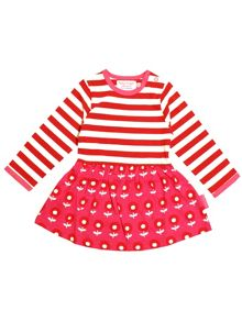 Toby Tiger Baby Girls Dot Flower Twirl Dress