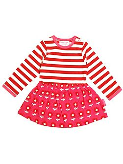 Girls Dot Flower Twirl Dress