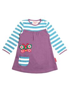Toby Tiger Baby Girls Butterfly T-Shirt Dress