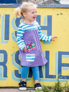 Toby Tiger Girls Butterfly T-Shirt Dress