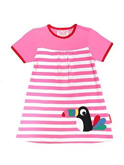 Toby Tiger Baby Girls Toucan T-Shirt Dress