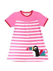 Toby Tiger Girls Toucan T-Shirt Dress