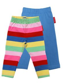 Toby Tiger Baby Girls Girly Stripe Leggings 2 Pack