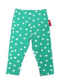 Toby Tiger Baby Girls Green And Purple Leggings 2 Pack