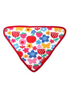 Toby Tiger Baby Girls Butterfly Flower Dribble Bib