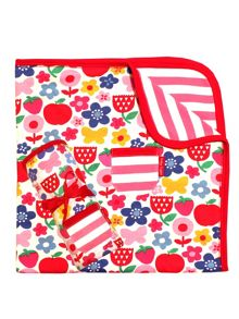 Toby Tiger Baby Girls Butterfly Flower Blanket/Shawl