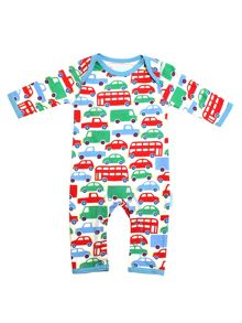 Toby Tiger Baby Boys Transport Sleepsuit
