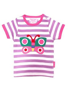 Toby Tiger Baby Girls Butterfly T-Shirt