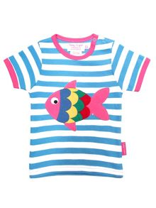 Toby Tiger Baby Girls Fish T-Shirt