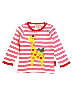Girls Giraffe And Bird T-Shirt