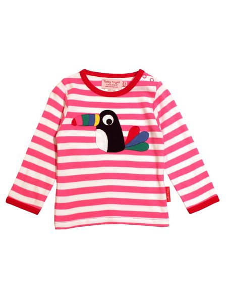 Toby Tiger Baby Girls Toucan T-Shirt