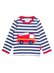 Toby Tiger Baby Boys Fire Engine T-Shirt
