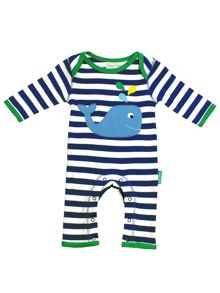 Toby Tiger Babies Whale Sleepsuit