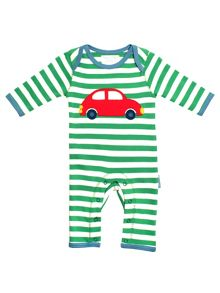 Toby Tiger Baby Boys Car Sleepsuit