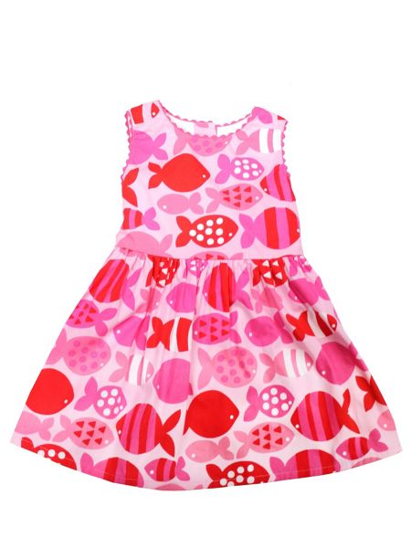 Toby Tiger Baby Girls Fish Party Dress
