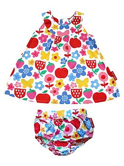 Toby Tiger Baby Girls Butterfly Flower Baby Dress